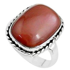 10.30cts solitaire natural pink moonstone 925 sterling silver ring size 7 t10474