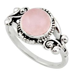 3.02cts solitaire natural pink morganite 925 silver ring jewelry size 8.5 r40851