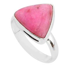 9.98cts solitaire natural pink petalite 925 sterling silver ring size 9 t39131