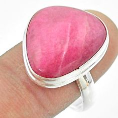 15.29cts solitaire natural pink petalite fancy 925 silver ring size 10.5 t54082