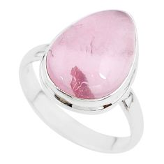 12.83cts solitaire natural pink rose quartz 925 silver ring size 12 t17890