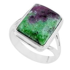 12.65cts solitaire natural pink ruby zoisite 925 silver ring size 9 t17808