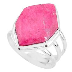 16.70cts solitaire natural pink thulite 925 silver ring jewelry size 10 t17886