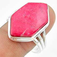 16.87cts solitaire natural pink thulite 925 silver ring jewelry size 11 t54101