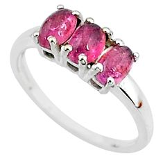2.49cts solitaire natural pink tourmaline 925 sterling silver ring size 8 t7568