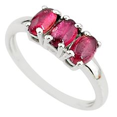 2.73cts solitaire natural pink tourmaline 925 sterling silver ring size 8 t7573