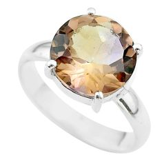 7.33cts solitaire natural purple ametrine 925 silver ring jewelry size 10 t50241