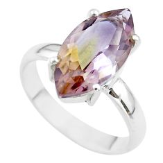 9.47cts solitaire natural purple ametrine 925 silver ring jewelry size 10 t50244