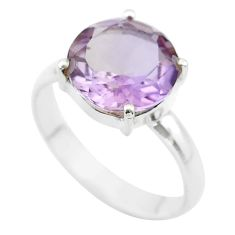 6.54cts solitaire natural purple ametrine 925 silver ring jewelry size 11 t50261