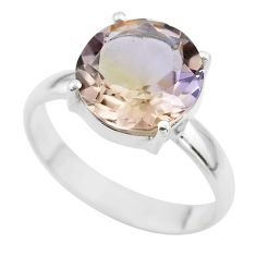6.54cts solitaire natural purple ametrine 925 silver ring jewelry size 11 t50262