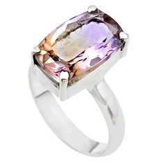 9.03cts solitaire natural purple ametrine 925 silver ring size 10 t45139