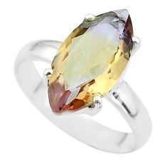 9.18cts solitaire natural purple ametrine 925 silver ring size 10 t50256