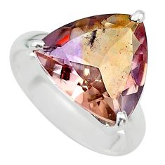 8.31cts solitaire natural purple ametrine 925 silver ring size 7.5 t24226
