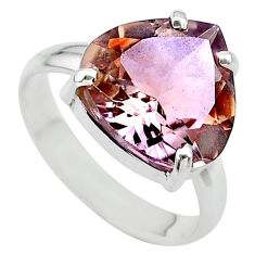 8.55cts solitaire natural purple ametrine 925 silver ring size 9.5 t24231