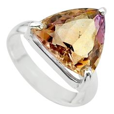 7.62cts solitaire natural purple ametrine 925 silver ring size 6.5 t24232