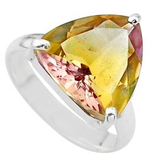 8.80cts solitaire natural purple ametrine 925 silver ring size 8.5 t24241