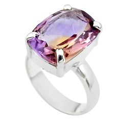 6.82cts solitaire natural purple ametrine 925 sterling silver ring size 5 t45136