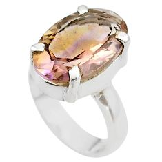 7.53cts solitaire natural purple ametrine 925 sterling silver ring size 5 t45137