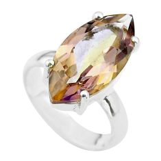 8.49cts solitaire natural purple ametrine 925 sterling silver ring size 5 t50238
