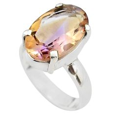 8.22cts solitaire natural purple ametrine 925 sterling silver ring size 6 t45129