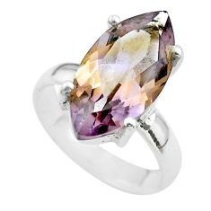 8.49cts solitaire natural purple ametrine 925 sterling silver ring size 6 t50213