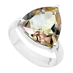 6.70cts solitaire natural purple ametrine 925 sterling silver ring size 6 t50214