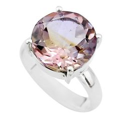 6.72cts solitaire natural purple ametrine 925 sterling silver ring size 6 t50222