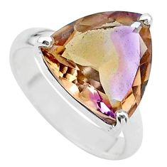 8.06cts solitaire natural purple ametrine 925 sterling silver ring size 7 t24242
