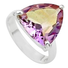 8.31cts solitaire natural purple ametrine 925 sterling silver ring size 7 t24249