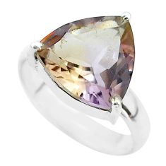 6.70cts solitaire natural purple ametrine 925 sterling silver ring size 7 t50184
