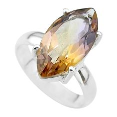 8.91cts solitaire natural purple ametrine 925 sterling silver ring size 7 t50185