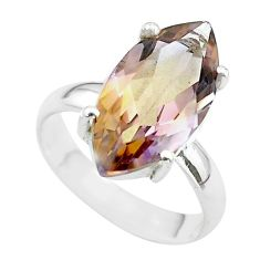 8.91cts solitaire natural purple ametrine 925 sterling silver ring size 7 t50207