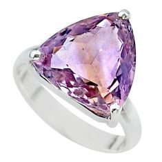 8.21cts solitaire natural purple ametrine 925 sterling silver ring size 8 t24223