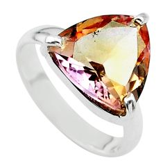 7.87cts solitaire natural purple ametrine 925 sterling silver ring size 8 t24235