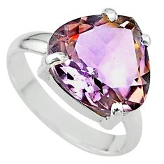 8.21cts solitaire natural purple ametrine 925 sterling silver ring size 8 t24239