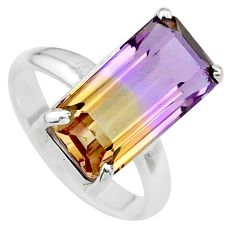 7.54cts solitaire natural purple ametrine 925 sterling silver ring size 8 t24251