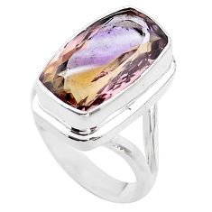 9.62cts solitaire natural purple ametrine 925 sterling silver ring size 8 t45108