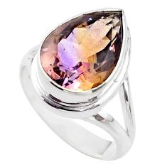 8.42cts solitaire natural purple ametrine 925 sterling silver ring size 8 t45116