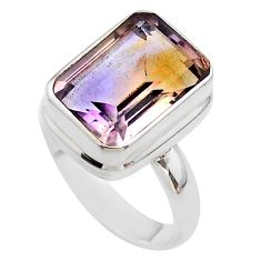 6.80cts solitaire natural purple ametrine 925 sterling silver ring size 8 t45134