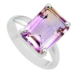 6.98cts solitaire natural purple ametrine 925 sterling silver ring size 9 t24225