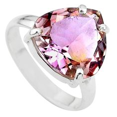 8.53cts solitaire natural purple ametrine 925 sterling silver ring size 9 t24252