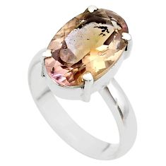 8.21cts solitaire natural purple ametrine 925 sterling silver ring size 9 t45126