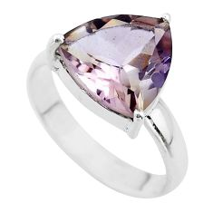 6.70cts solitaire natural purple ametrine 925 sterling silver ring size 9 t50287