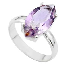 9.47cts solitaire natural purple ametrine marquise silver ring size 10 t50265