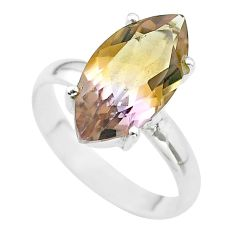 9.97cts solitaire natural purple ametrine marquise silver ring size 10 t50273