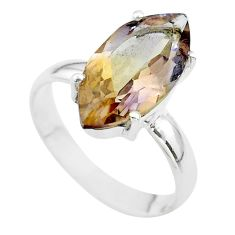 8.06cts solitaire natural purple ametrine marquise silver ring size 10 t50285