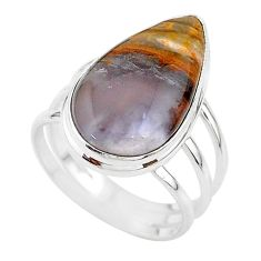 16.90cts solitaire natural purple grape chalcedony silver ring size 11 t17936