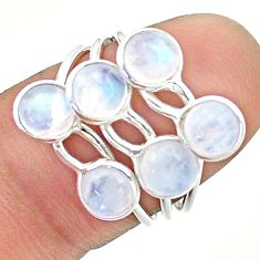 4.54cts solitaire natural rainbow moonstone 925 silver ring size 6 t19196