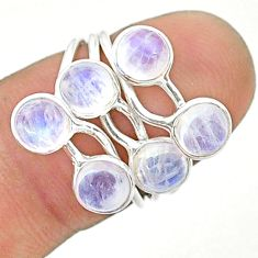 4.53cts solitaire natural rainbow moonstone 925 silver ring size 6 t19199