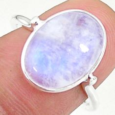 5.88cts solitaire natural rainbow moonstone oval 925 silver ring size 8 t34699